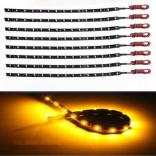 8x New 30cm 15 SMD 3528 LED Flexible Strip Blue Light Car Lamp Waterproof 12V CA