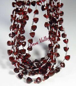 Natural Mozambique Garnet Gemstone Trillion Briolette Shape Faceted Beads GV-914