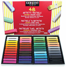 Sargent Art Artist's Colored Square Chalk Pastel - Assorted Colors - 48 count