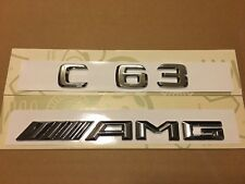 Mercedes C63 AMG Chrome Badge Emblem Decals New Style