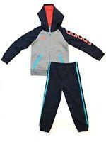 adidas Boys' Tricot Jacket and Pant Set, Solar Grey, Size 7 NWOT
