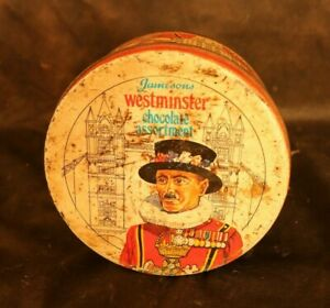 Vintage Retro Tin Box Jamesons Westminster Chocolate Sweet Tin Made In England