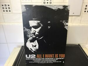 U2 All I Want Is You Rattle & Hum Cardboard Shop Counter Display Stand Very Rare
