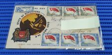 1960 State of Singapore First Day Cover National Day Commemorative Stamp Issue