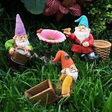 Miniature Fairy Dwarf Garden Gnomes Set of 4 Cute Decoration Figurines Gift US