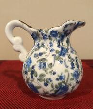 ROYAL CHINTZ CREAMER Blue Roses Gold Trim 2179 England Porcelain Small Pitcher