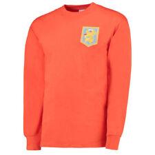 Camisetas de fútbol para hombres naranjas talla XXL