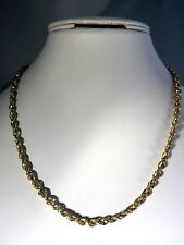 """14K YELLOW GOLD 16"""" DIAMOND CUT ROPE CHAIN NECKLACE, 3.2g (M889-28)"""