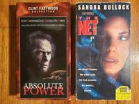 (Lot2) Absolute Power 97 The Net 95 VHS HTF OOP Original Rare Thriller Crime