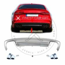 Duplex Diffusor Set ESD S4 Look für Audi A4 8K B8 Facelift S-Line Stoßstange