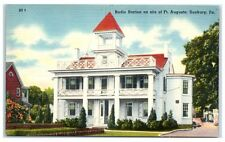 Mid-1900s Radio Station Ft. Augusta, Sunbury, PA Postcard