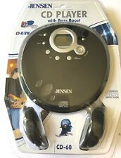NOS Jensen Cd Player With Bass Boosr CD-60 With Headphones Sealed Package