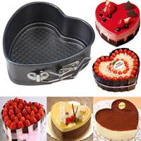 Heart-Shaped Cake Tin Non-stick Spring Form Loose Baking Pan Tray Baking Tool4H