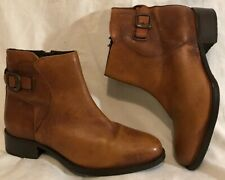 Love My Soul Tan Ankle Leather Lovely Boots Size 4 (74QQ)