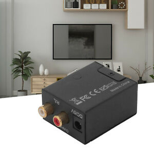 Analog To Digital Optical Audio Converter Adapter Toslink Coaxial RCA L/R