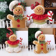 1x Poupée Couture Artisanat Gingerbread Pendentif Créatif Décor Noël Ornament NF