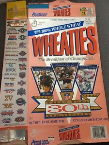 1995 Wheaties 30th Anniversary Super Bowl Box Only
