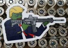 1 rare PEPE TRUMP Decal AR-15 Custom Sticker! Laptop Bumper MAGA 4chan #2A M-16