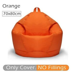 Lazy Sofas Cover 420D Oxford Waterproof Lounger Seat Bean Bag Puff Couch