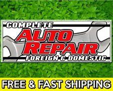 """18"""" x 48"""" Complete Auto Repair Sign Banner 13oz Vinyl w/ Grommets Retail Store"""
