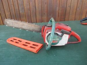 "Vintage HOMELITE XL AUTOMATIC Chainsaw Chain Saw with 16"" Bar"