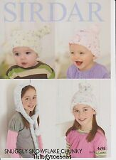 SIRDAR 4698 SNUGGLY SNOWFLAKE CHUNKY BABY/CHILDREN'S HATS - KNITTING PATTERN