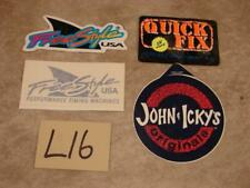L16 VINTAGE LOT FREE STYLE JOHN & ICKY'S QUICK FIX SURF 4 STICKERS