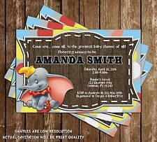 Baby Dumbo the Flying Elephant - Baby Shower Invitations - 15 Printed W/envelope