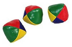Set of 3 professional Juggling Balls Circus Clown Coloured Learn to Juggle Toy