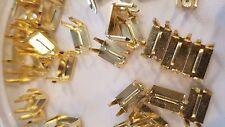 #8 4 Prong Zipper Bottom Stop PKG of 50 Brass Closure