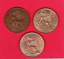 3 x BRITISH PENNY COINS 1919KN 1936 and 1948 in nice condition