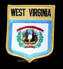 WEST VIRGINIA STATE FLAG EMBROIDERED IRON ON SHIELD PATCH WV CHARLESTON MOUNTAIN