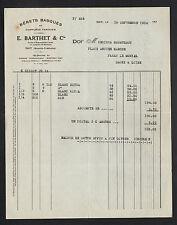 """NAY (64) USINE de BERETS BASQUES & COIFFURES """"E. BARTHET & Cie"""" en 1934"""