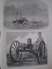 The Gatling Gun 1872 old print and article my ref S