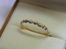 Clogau 9ct Welsh Gold Tree of Life Affinity Stacking Ring size N