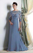 NEW MON CHERI MONTAGE 113949 MOTHER OF THE BRIDE EVENING BLUE LONG GOWN DRESS 10
