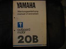 Werkstatthandbuch Yamaha Außenborder  20 B (BE, BM 2Zyl.-2Takt)