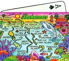 BAHAMAS MAP CARIBBEAN COLLECTIBLE SOUVENIR PLAYING CARDS