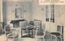 HOTEL BURGUNDY PARIS FRANCE CHECKER CHESS BOARD POSTCARD (c. 1910)