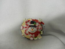 CHRISTMAS VANILLA CLAYDOUGH FOAM CUPCAKE ORNAMENT-SNOWMAN-NEW-KURT ADLER