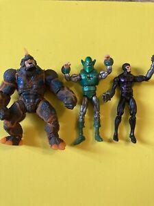"Marvel Universe Hasbro Villain Lot Whirlwind Rhino Machine Man 3.75"" Inch Figure"