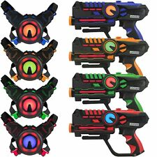 Infrared Laser Tag Guns and Vests - Laser Battle Mega Pack of 4 - Infrared 0.9mW