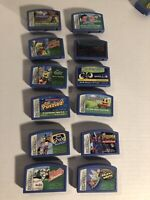 Lot of 12 Leapster Game Cartridges Leap Frog Bundle Spiderman, Disney Cars, Math