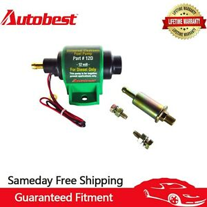 Autobest 12V Diesel Pump 4-7 PSI Universal Electric Micro Fuel Pump 12D