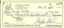 1994 sandy koufax payroll check autograph signed  dodgers hall of fame baseball