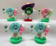 5 M&M M & M Chocolate Candy Spring Easter Decoration Watering Can Cake Toppers
