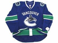 VANCOUVER CANUCKS AUTHENTIC HOME TEAM ISSUED REEBOK EDGE 1.0 7187 JERSEY SIZE 58