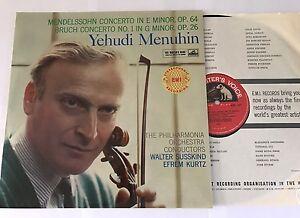 ASD 334 Yehudi Menuhin Mendelssohn Bruch HMV Great Copy!!