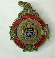 South Leeds Schools Swimming Association Bronze Enamel Medal 1935 Badge 33x27 mm