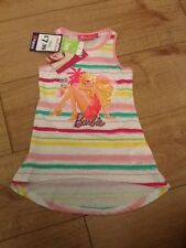 New Girls Barbie Striped Summer Vest Top Age 2 Years